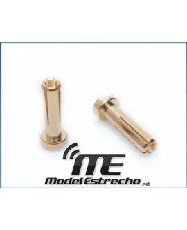 CONECTOR LRP 4mm MACHO ORO (2 U.)