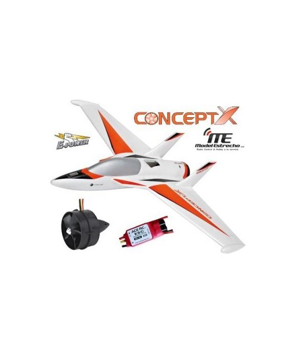 AVION CONCEPT-X ALA VOLANTE C/TURBINA EDF75 Y BLC40