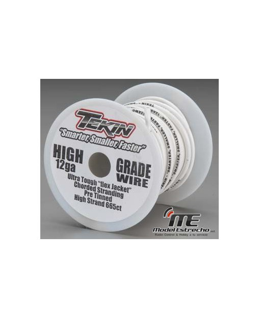 TEKIN CABLE BLANCO 12ga 15m