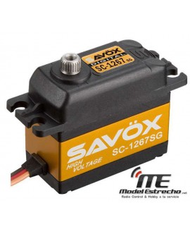 SERVO SAVOX SC1267SG SC1267SG 7.4V 21Kg 0.9 Seg.