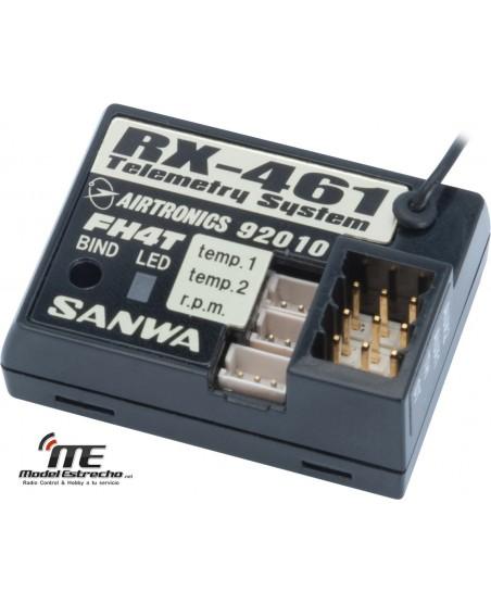 RECEPTOR SANWA 4CH FHSS-4T 2.4G 461 TELEMETRIA
