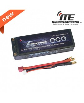Gens Ace 7200mha 7,4v 70C 2S2P WITH  BLACK HardCase Lipo