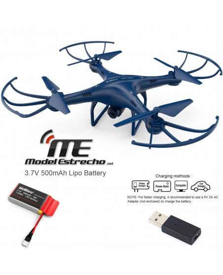 DRONE WIFI ALTITUDE MODE MEDIANO 2,4 GHz CON CAMARA  AZUL