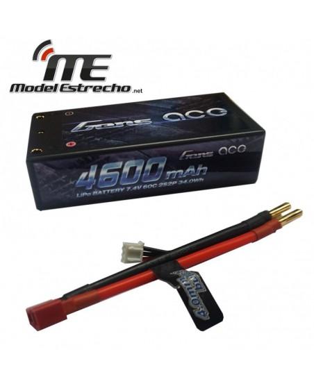 Gens Ace 4600mha 7,4v 60C 2S2P HardCase Lipo