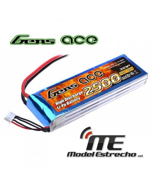 Gens Ace 2500mah 11,1v 25C 3S1P LIPO BATERIA PACK