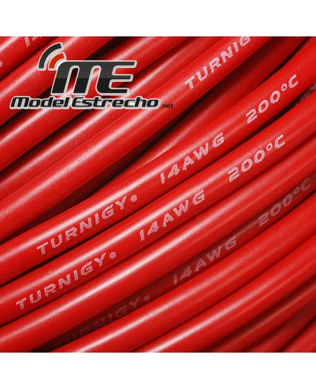 CABLE SILICONA ROJO 14awg