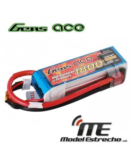 Gens Ace 1800mah 7,4v 40C 3S1P LIPO BATERIA PACK