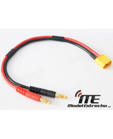 CABLE CARGA BANANA 4mm A XT60