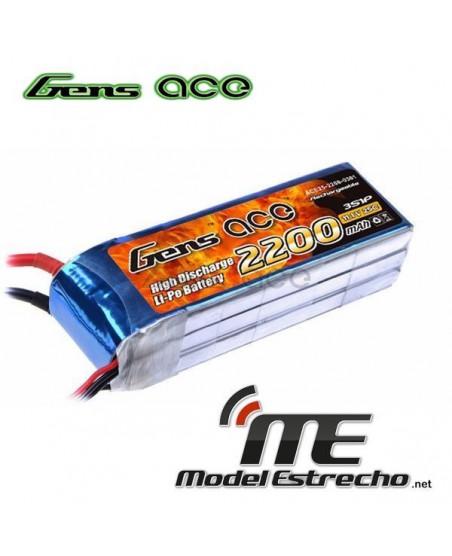 Gens Ace 2200mah 11,1v 45C 3S1P LIPO BATERIA PACK