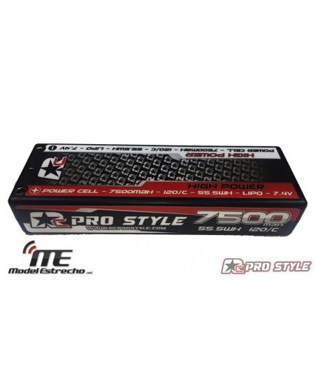 PRO STYLE 7500mha 7,4v 120C 2S2P HardCase Lipo