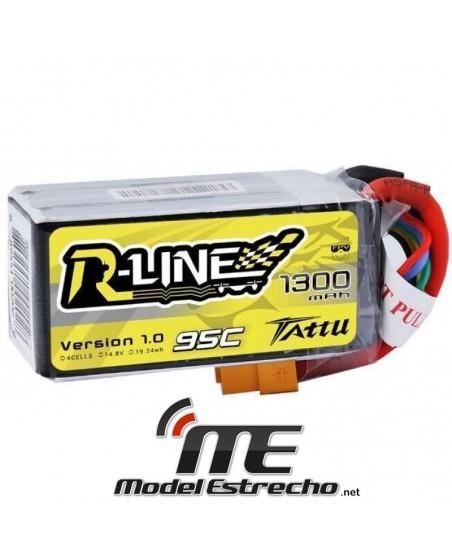 TATTU R-LINE 1300mah 14,8v 95C 4S1P LIPO BATERIA PACK