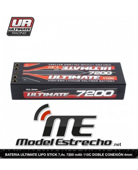 BATERIA ULTIMATE LIPO STICK 7,4v. 7200 mah 110C 4mm