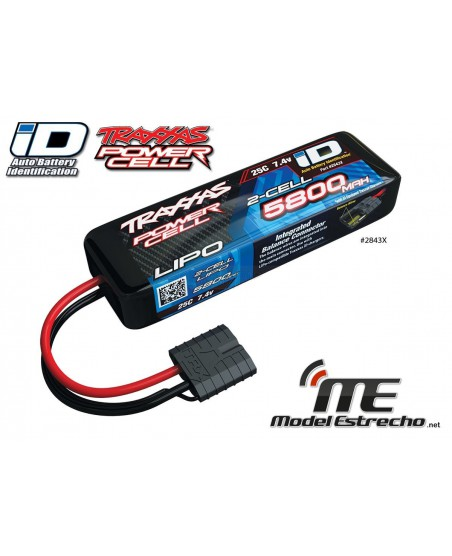 TRAXXAS POWER CELL LIPO 5800mah 7,4v 25C 2S BATERIA PACK