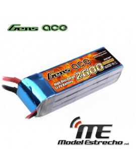 Gens Ace 2600mah 11,1v 60C 3S1P LIPO BATERIA PACK