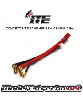 CABLE CARGA EC5 Y BANANA 4mm