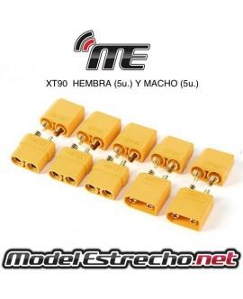 CONECTOR XT90 5 MACHO Y 5 HEMBRA (10u.)