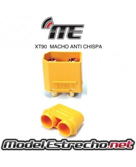 CONECTOR XT90 MACHO ANTI CHISPA (1u.)