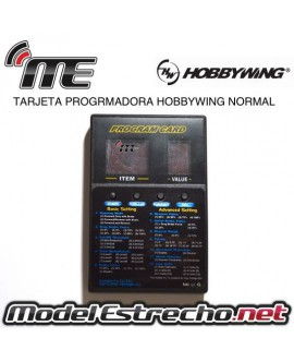 TARJETA PROGRAMADORA HOBBYWING NORMAL 5 MENU