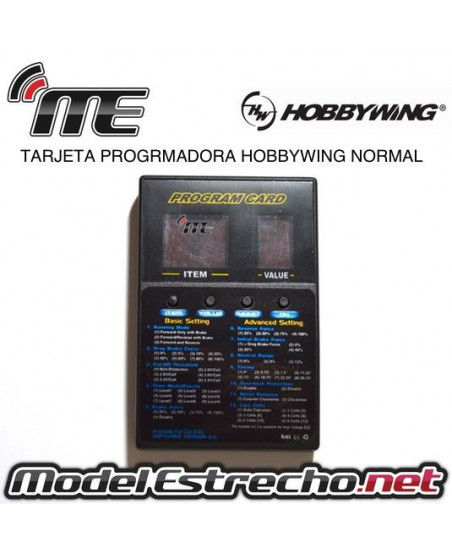 TARJETA PROGRAMADORA HOBBYWING NORMAL 12 MENU