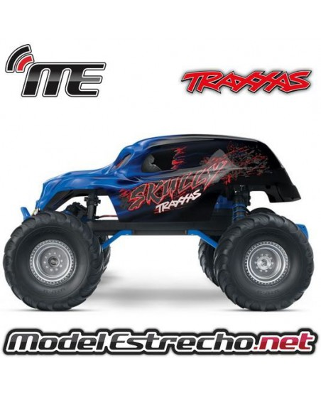TRAXXAS SKULLY 1/10 TH MONSTER TRUCH RTR AZUL