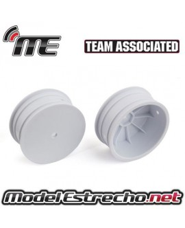 ASSOCIATED LLANTAS DELANTERA BLANCA 4WD 12mm 2.2 in