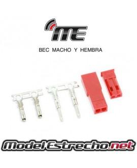 CONECTOR BEC MACHO Y HEMBRA