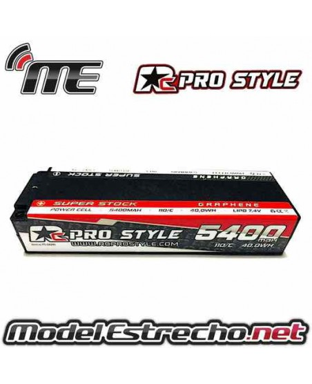 BATERIA RC PRO STYLE 5400mha 7,4v 100C 2S2P HardCase Lipo