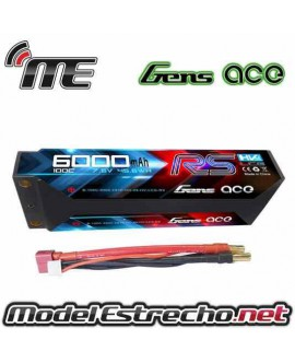Gens Ace 5000mha 7,4v 65C 2S2P HardCase Lipo
