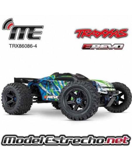 TRAXXAS E-REVO 2 4WD MONTER RTR TQi 1/10 BRUSHLESS 2.4Ghz TSM