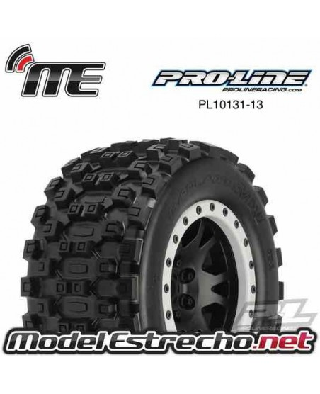 PROLINE BADLANDS MX43 PRO-LOC ALL TERRAIN TIRES MOUNTED FOR X-MAXX