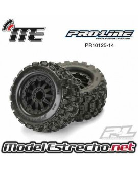 PROLINE BADLANDS MX43 PRO-LOC ALL TERRAIN TIRES MOUNTED FOR X-MAXX