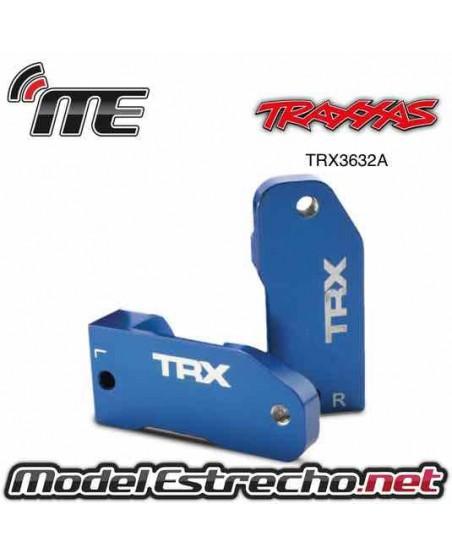 TRAXXAS CASTER BLOCKS 30 DEGREE BLUE ANODIZED
