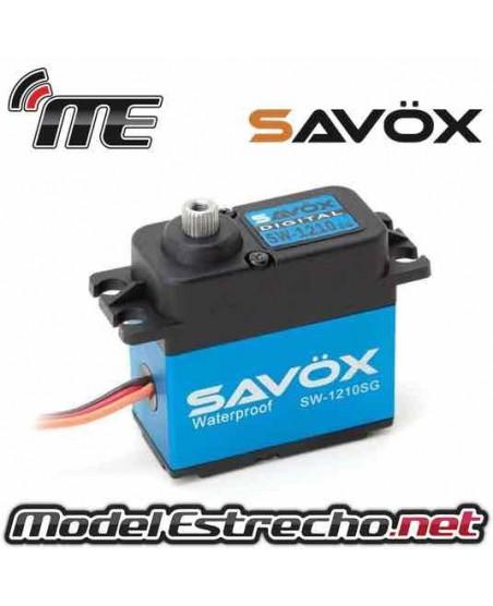 SERVO SAVOX SW1210SG WATERPROOF 6V 20Kg 0.15 Seg.