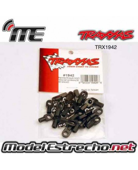 TRAXXAS ROD ENDS (16 LONG & 4 SHORT) HOLLOW BALL CONECTORS (18)