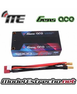 Gens Ace 5500mha 7,6v HIGH VOLTAGE 100C 2S2P HardCase SHORTY Lipo EFRA APPROVAL