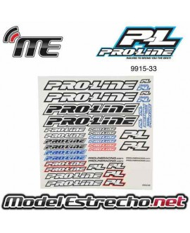 PROLINE PEGATINAS TEAM DECAL B&W