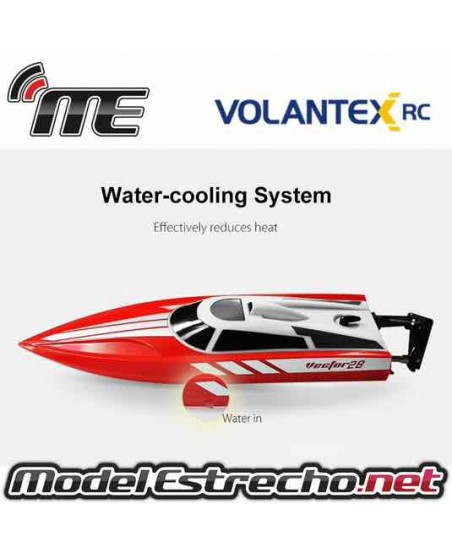 LANCHA VOLANTEX VECTOR 28 MINI RACING BOAT RTR RED 2,4Ghz