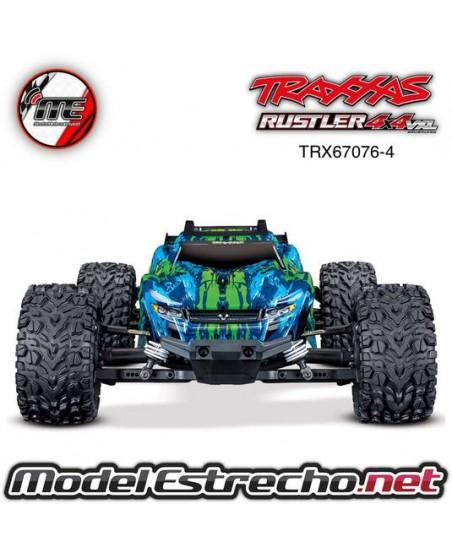TRAXXAS RUSTLER 4X4 VXL VERDE 1/10 SCALE 4WD STADIUM TRUCK TSM