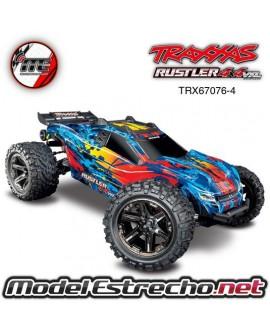 TRAXXAS RUSTLER 4X4 VXL ROJO 1/10 SCALE 4WD STADIUM TRUCK TSM