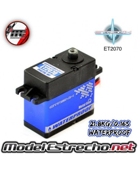 ETRONIX 6V 21.8Kg 0.16 Seg. STD DIGITAL SERVO METAL GEAR WATERPROOF