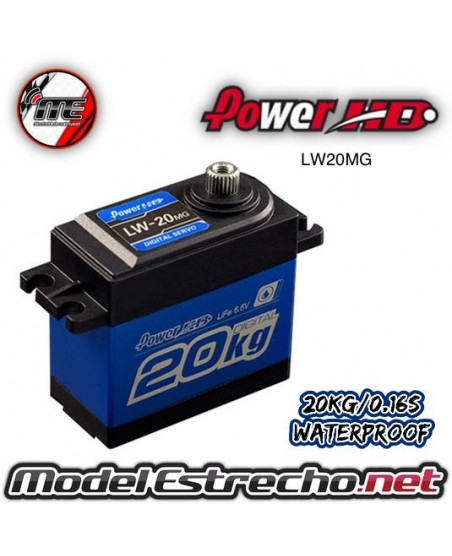 SERVO POWER HD DIGITAL  6V 20Kg 0.16 Seg. STD DIGITAL SERVO METAL GEAR WATERPROOF