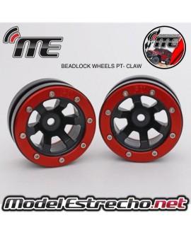 BEADLOCK WHEELS PT - CLAW BLACK/RED 1.9 (2U.)