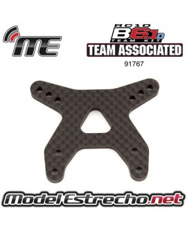 TEAM ASSOCIATED B6.1 FRONT SHOCK TOWER, FLAT GRAPHITE