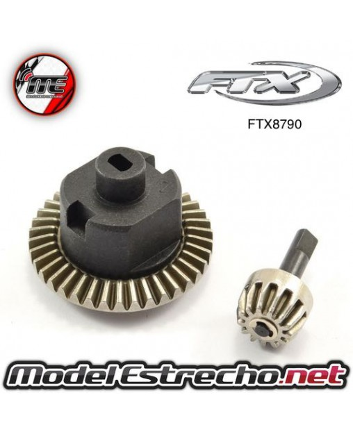 FTX MAULER FRONT REAR AXLE PINION & RING METAL GEAR SET 38T