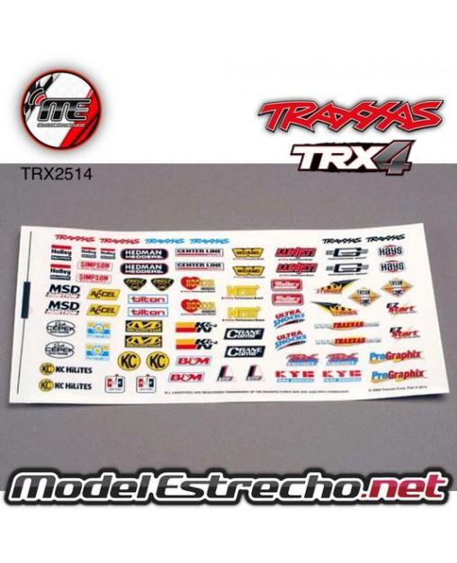 TRAXXAS DECAL SHEET, RACING SPONSORS