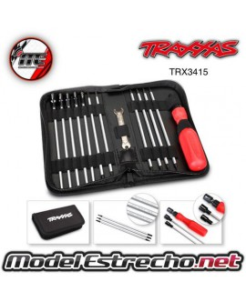 TOOL SET WITH BAG (INCLUDES 1.5, 2.0, 2.5, 3.0, 3.5, 4, 5, 5.5, 7, 8 NUT DRIVES)