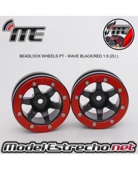 BEADLOCK WHEELS PT - WAVE BLACK/RED 1.9 (2U.)