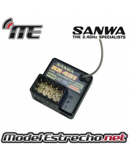 RECEPTOR SANWA M17 RX-491 4 CANALES 2,4Ghz