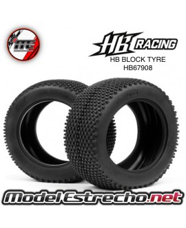 RUEDA TRUGGY HB RACING BLOCK TYRE