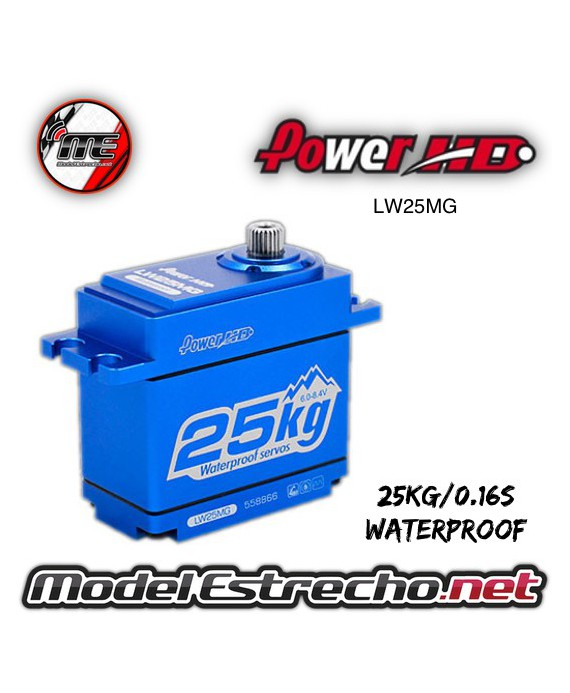 SERVO POWER HD DIGITAL  6V 25Kg 0.16 Seg. STD DIGITAL SERVO METAL GEAR WATERPROOF